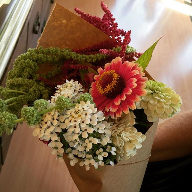 Fresh bouquets from our garden $7 this weekend!