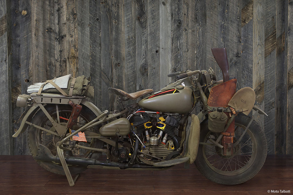 1942 Harley Davidson WLA 750 Cut-out