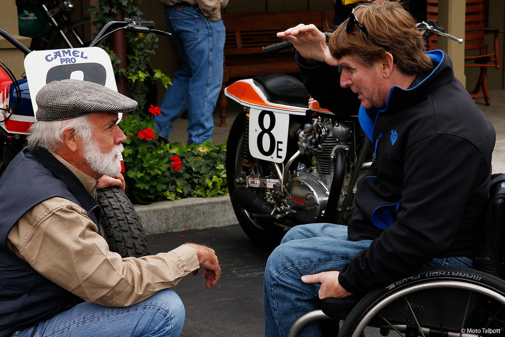 Museum founder Robb Talbott with three-time world champion Wayne Rainey.