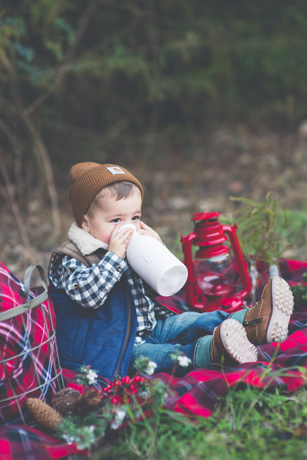 Lumberjack Christmas 2014 | Laraina Hase Photography | Little Boy Christmas Pictures