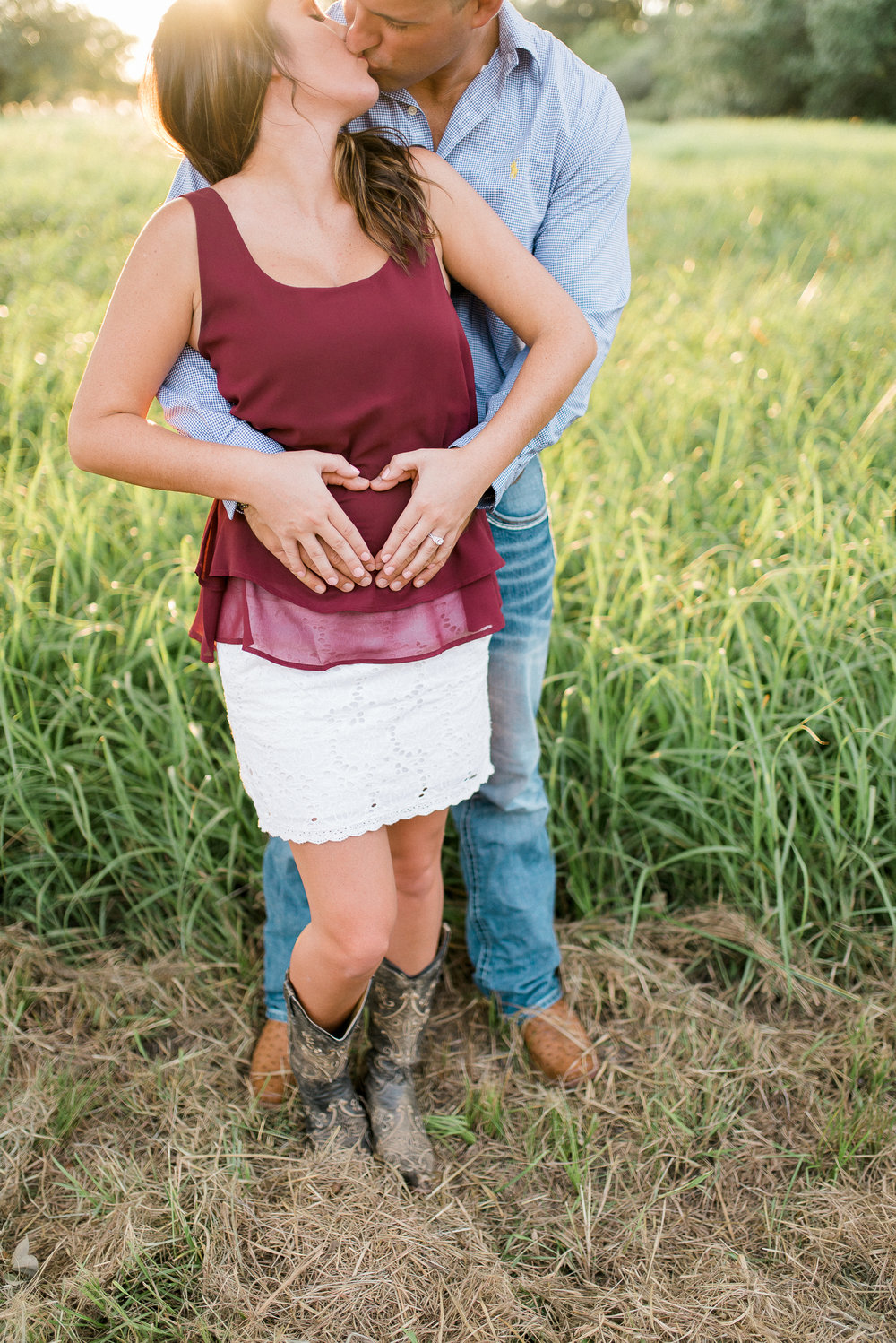 Brandon + Brooke | Beautiful Southern Maternity Announcement in Edna, Texas
