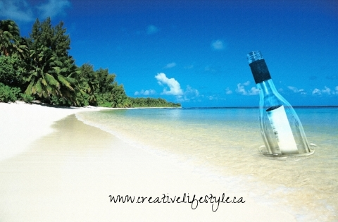 5. Write love notes and stick them in a bottle.