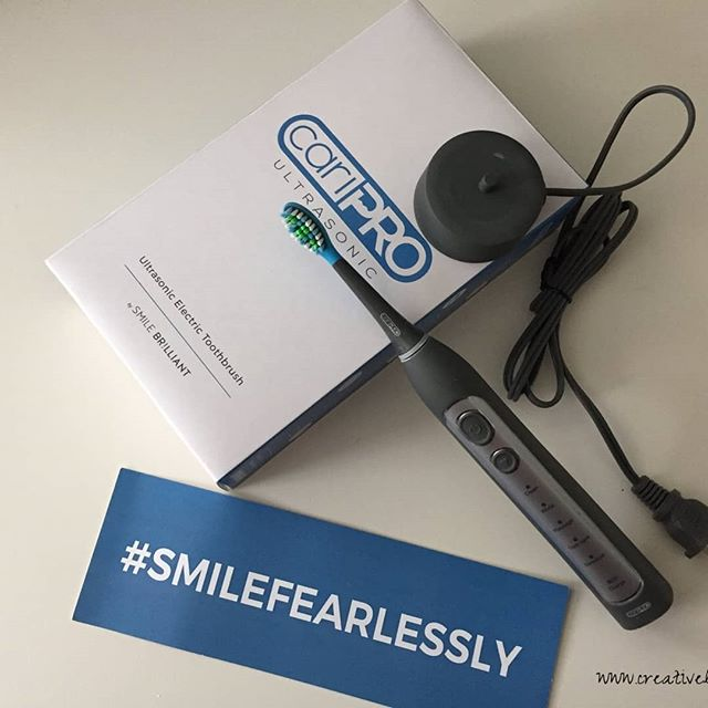 We have an exclusive 25% off discount code on any purchase of Smile  Brilliant's CariPro Ultrasonic Electric Toothbrush brought to us by  Smile Brilliant! Code and links are at https://crtvlsy.ca/2O2LUiq Smile Brilliant #smilefearlessly #dental #oralcare #smile #healthyteeth