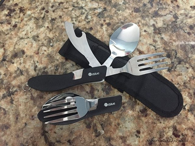 The Orblue 4-in-1 Camping Utensils are not just for camping; they are a multi-purpose tool, check out the full review at https://crtvlsy.ca/2KaLYIw @lovingmykitchen #gadgets #utensils #cutlery #camping #hiking