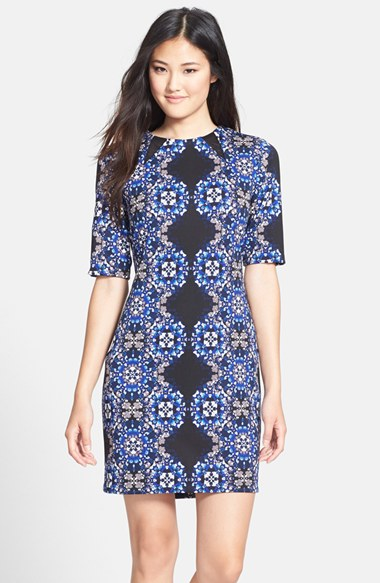 Taylor Dresses Print Scuba Sheath Dress  / Photo Credit:  Nordstrom Rack