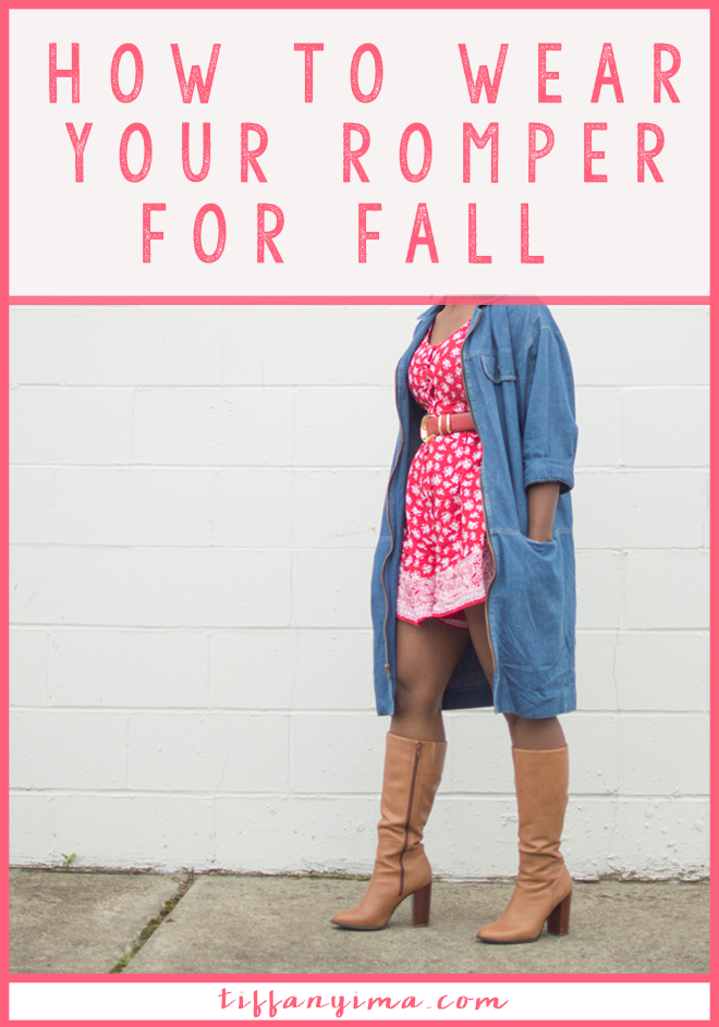 OH, THE ROMPER! IT IS PRETTY MUCH SUMMER'S GO-TO PIECE BECAUSE IT IS EASY, BREEZY AND SO ADORABLE. IT IS SOMETIMES TO HARD TO LET GO OF A GOOD THING. CLICK THROUGH TO SEE HOW TO WEAR YOUR ROMPER FOR FALL.