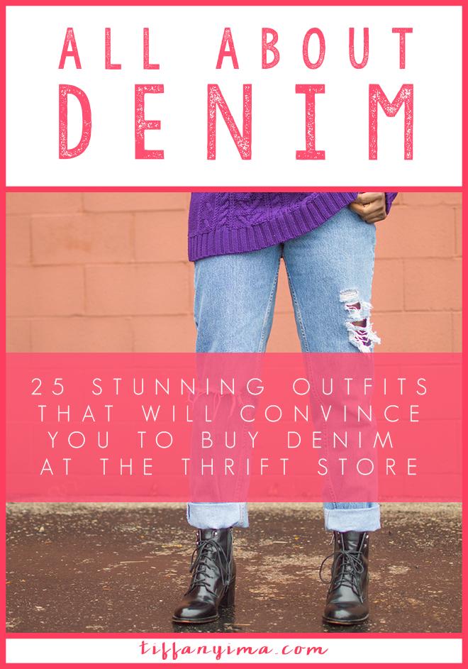 Think again about getting your denim at the thrift store! Click through now for 25 inspiring outfits with thrifted denim!