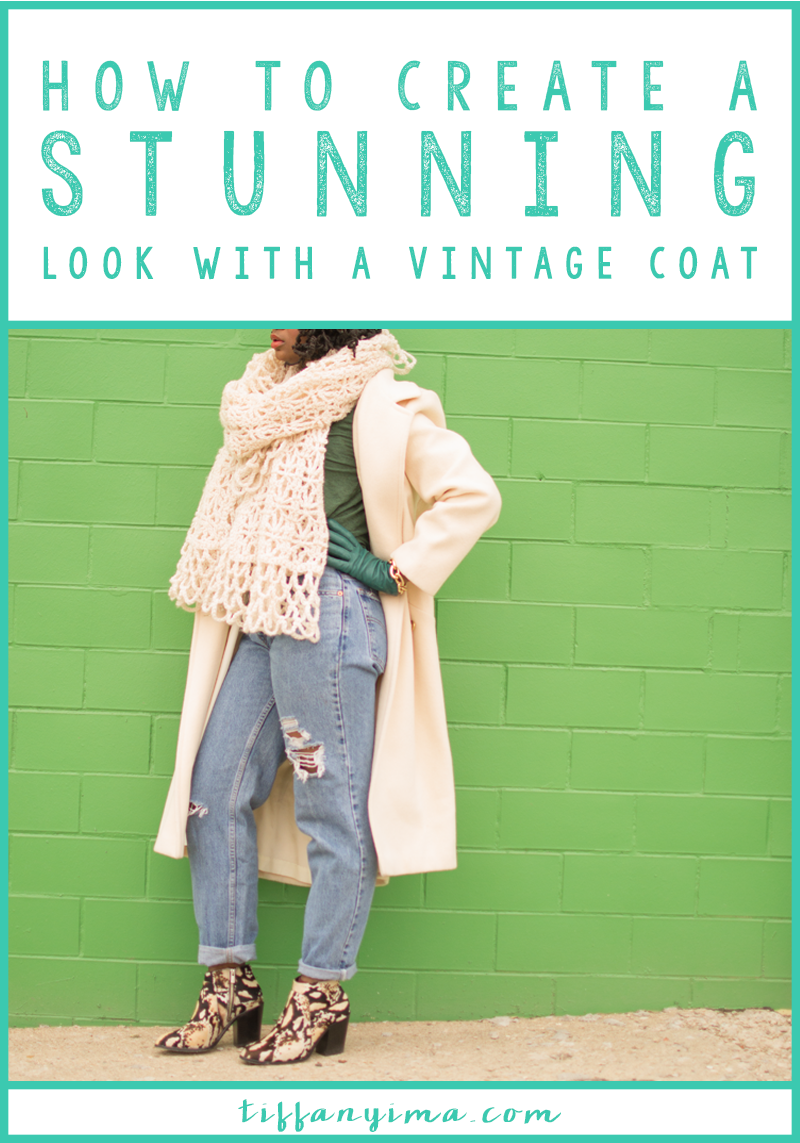 There is something beautiful about the quality, fit and styles that just makes you smile and feel all pretty.  Click through to learn how to wear your vintage coat with modern flair.