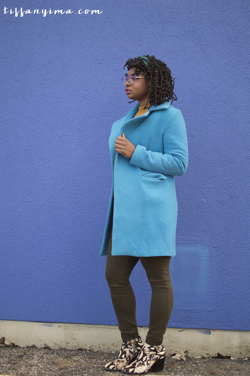 JEANS: GAP | SWEATER: THRIFTED | COAT: RAG O' RAMA (TRADED) | SHOES: LOEFFLER RANDALL