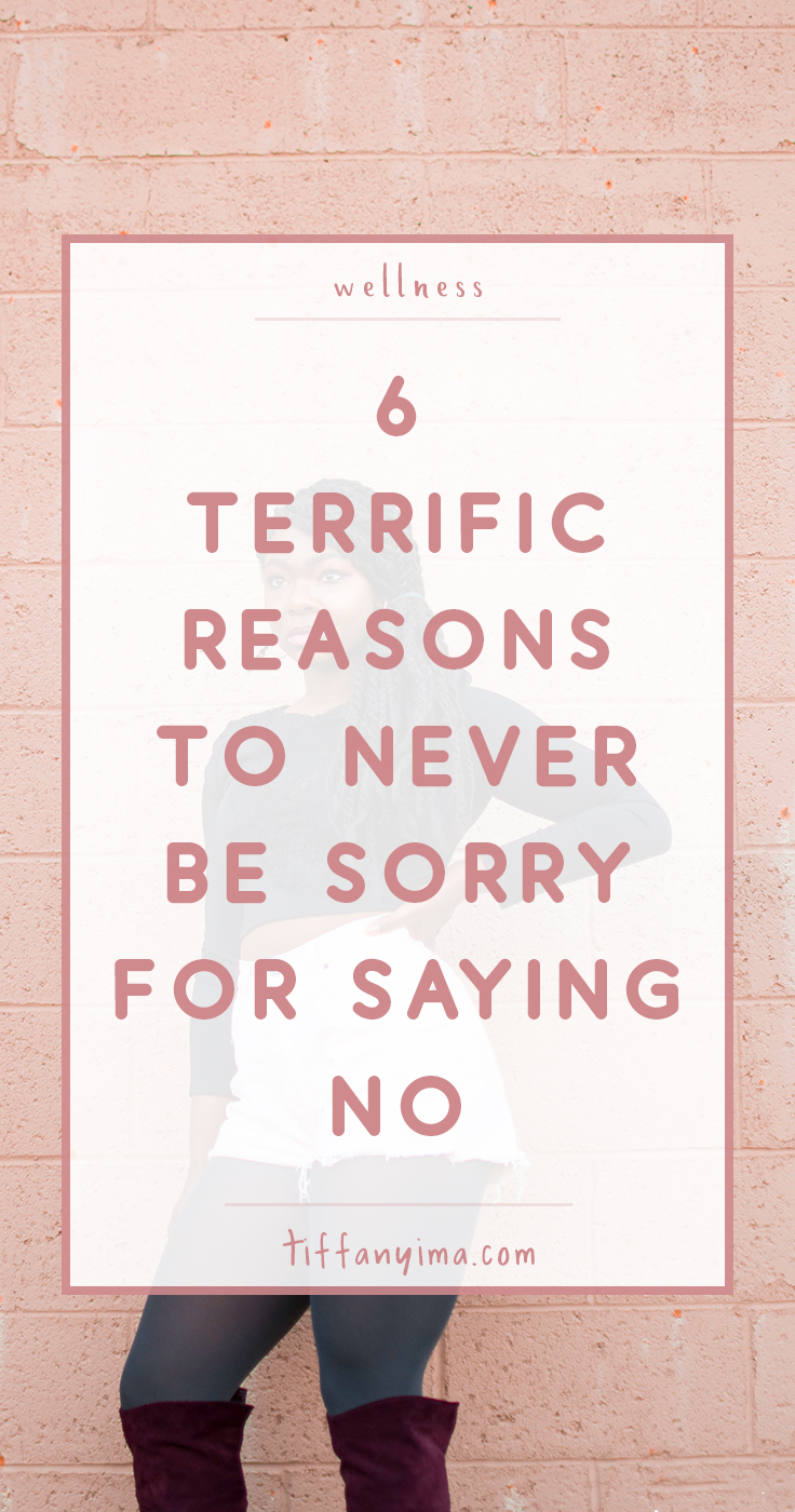 "Dear People Pleaser,  You are not every woman. It is ok to say no.  Repeat after me:  ""I do not bear the responsibility of constantly satisfying the people in my life"" Click through for 6 Terrific Reasons To Never Be Sorry For Saying No."