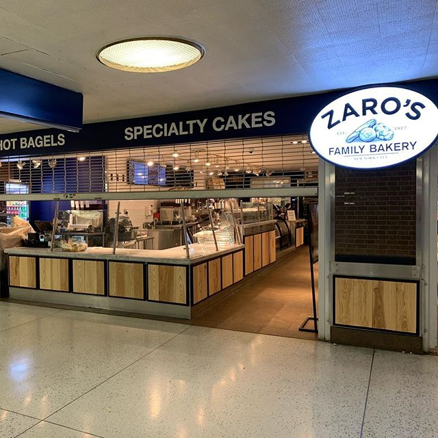 Next time you are in Penn Station say hi to my wood and metal panels at Zaro's Bakery.