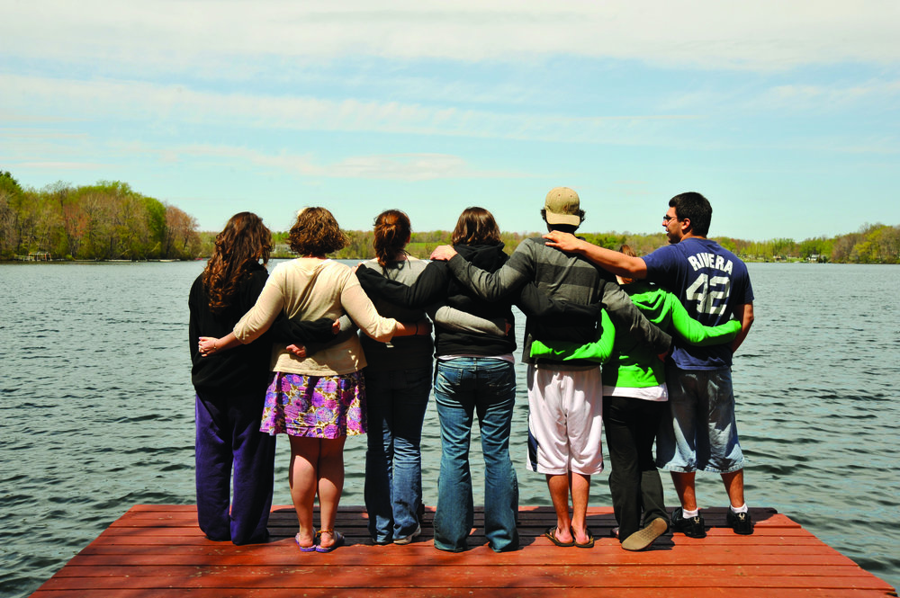Students of  The University of Scranton  at Chapman's Lake.