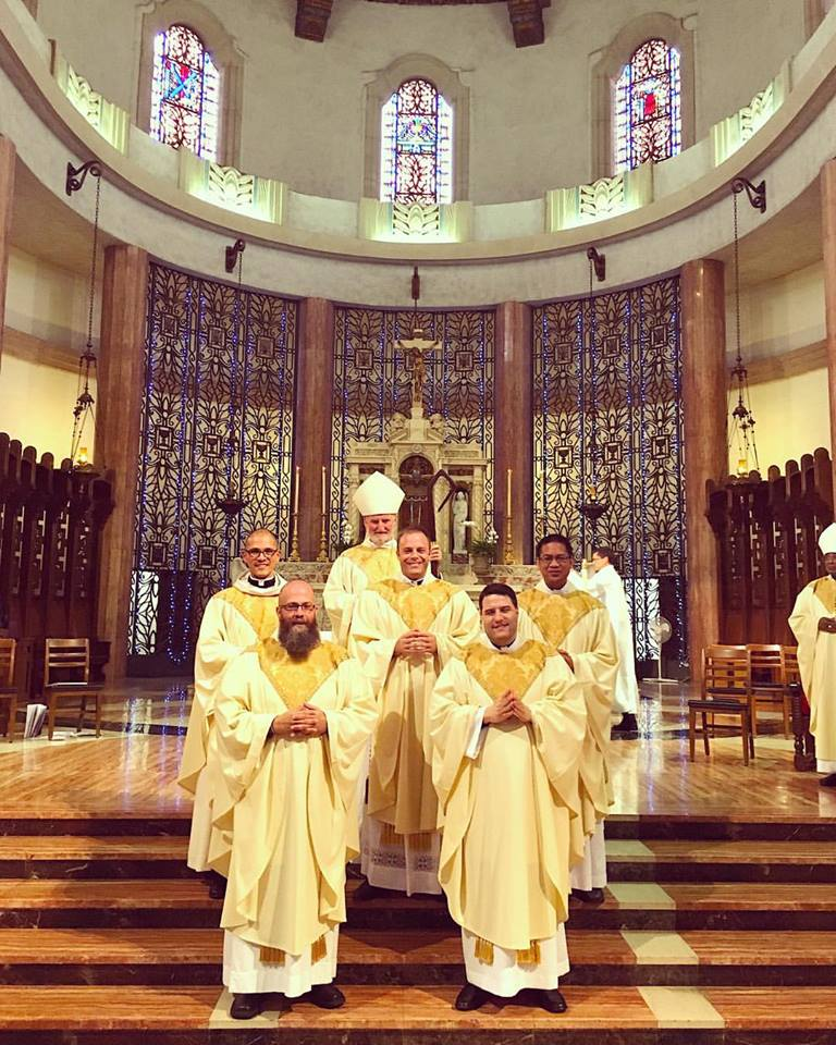 The five new Jesuits West men ordained priests with . This photo is courtesy of  Martin Ngo, S.J.