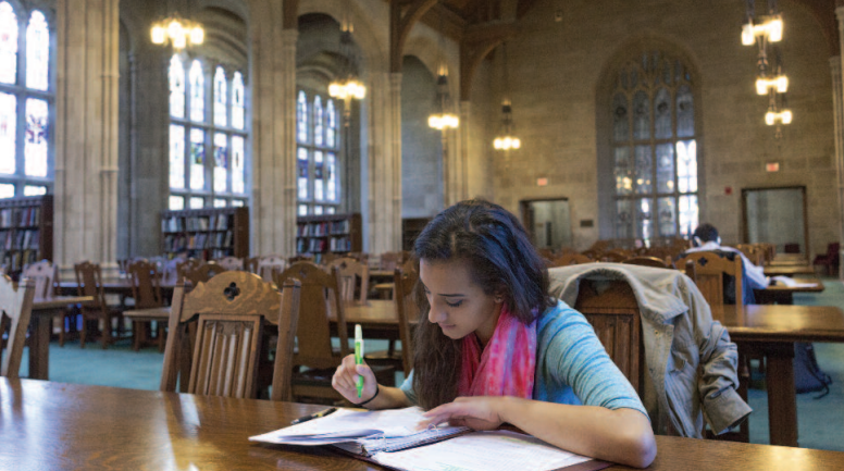 The sanctuary of learning at Boston College.