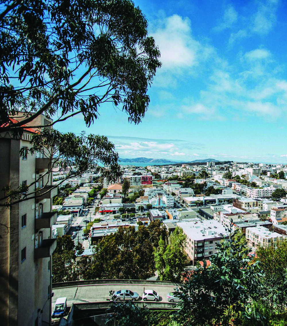 Lone Mountain North residence hall delivers spectacular views of the Marin headlands, San Francisco Bay, and Richmond neighborhood.