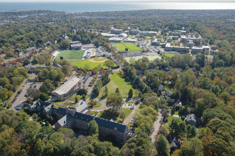 The campus of Fairfield University (courtesy of the university)