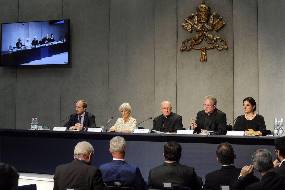 Press Conference for the Dicastery for Laity, Family, and Life. Photo copyright by the Dicastery and accessed via the  Flickr Creative Commons .