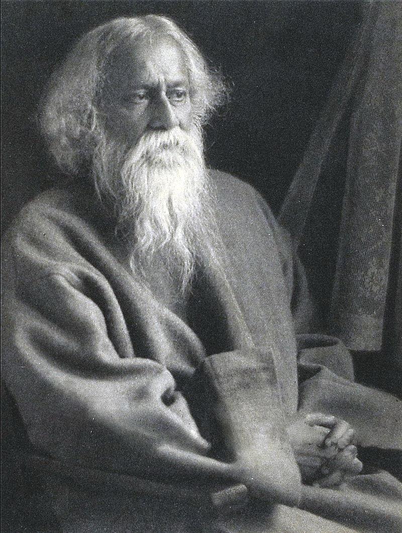 Rabindranath Tagore. Photo courtesy of  Wikipedia .