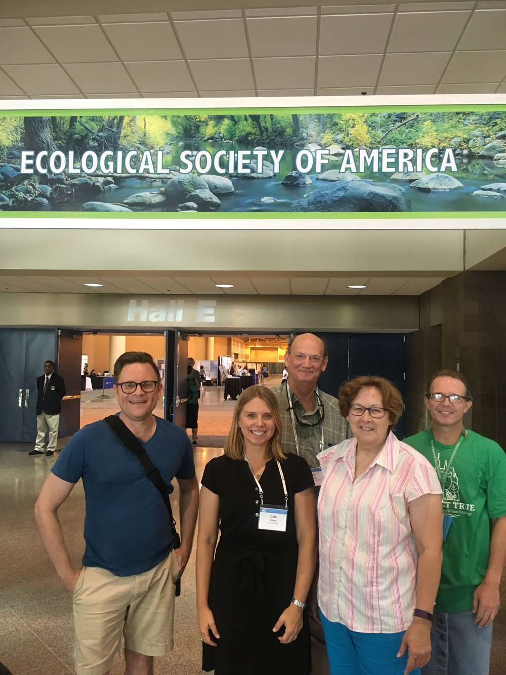 Faculty members together at the Ecological Society of America meeting. Photo featured courtesy of Cath Kleier