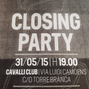 Closing party flyer