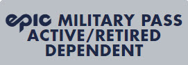 14 resorts. 1 pass. - For Dependents of Active and Retired Military. Military Epic Passes will require verification.