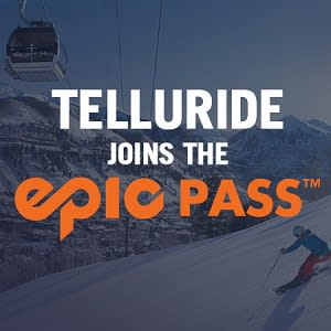 TELLURIDE JOINS THE EPIC PASS! - The iconic Telluride Ski Resort joins the Epic Pass beginning with the 2018-19 winter season in a long-term alliance!Epic Pass holders will receive seven days of skiing or snowboarding with no blackout dates at Telluride and 50 percent off lift tickets after the seven days have been redeemed.