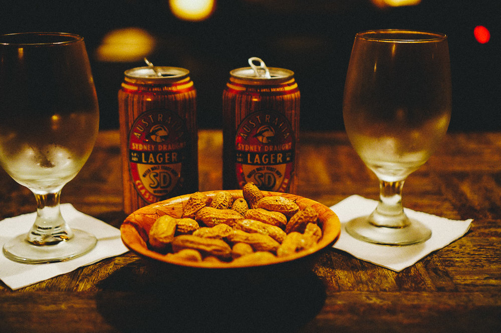 """Tinnies and Peanuts @ Shady Pines Saloon"""