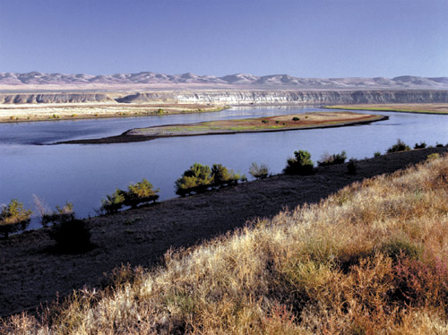 The Hanford Reach of the Columbia River on the ceded lands of the Yakama Nation.