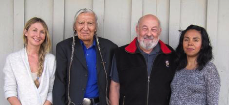 Center for World Indigenous Studies affiliates, including the author. From left to right: Janna Lafferty (Researcher), Russell Jim (Site Supervisor), Dr. Rudolph Ryser (CWIS Chair and Principal Investigator), Yvonne Sherwood (Researcher).