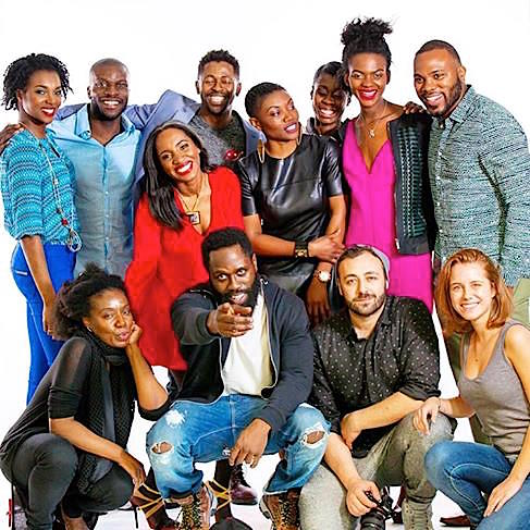 Sadly, I had to run off before group picture. That's what happens when one tries to juggle film school and acting work. It was an honor working with this amazing cast and our producers   Maureen Martin   and   Berka Ngong  .