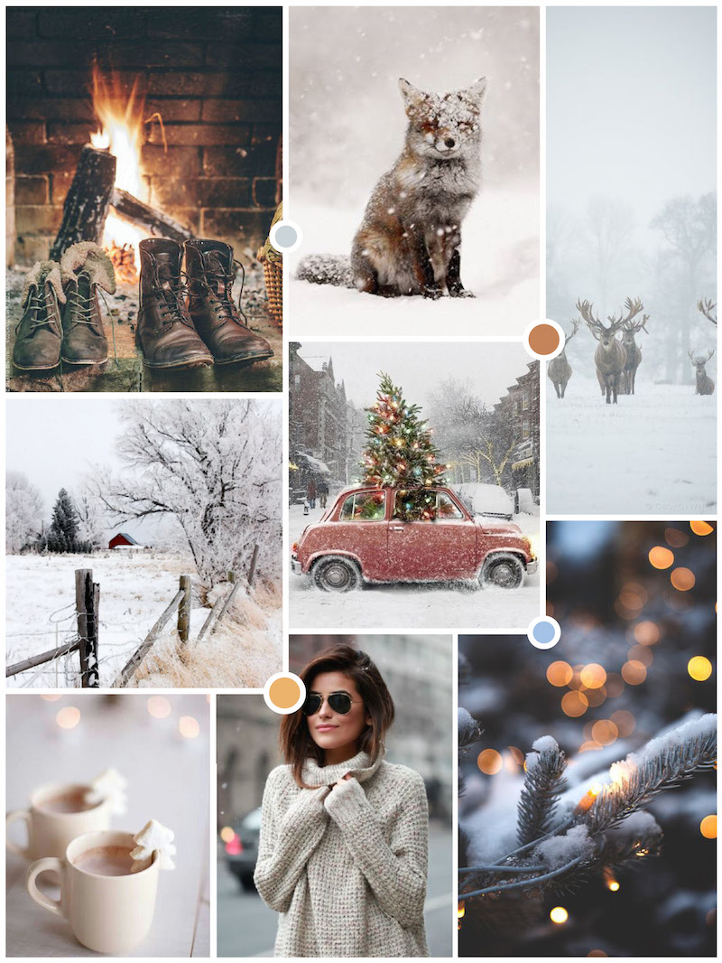 Winter Moodboard example from White Corner Creative