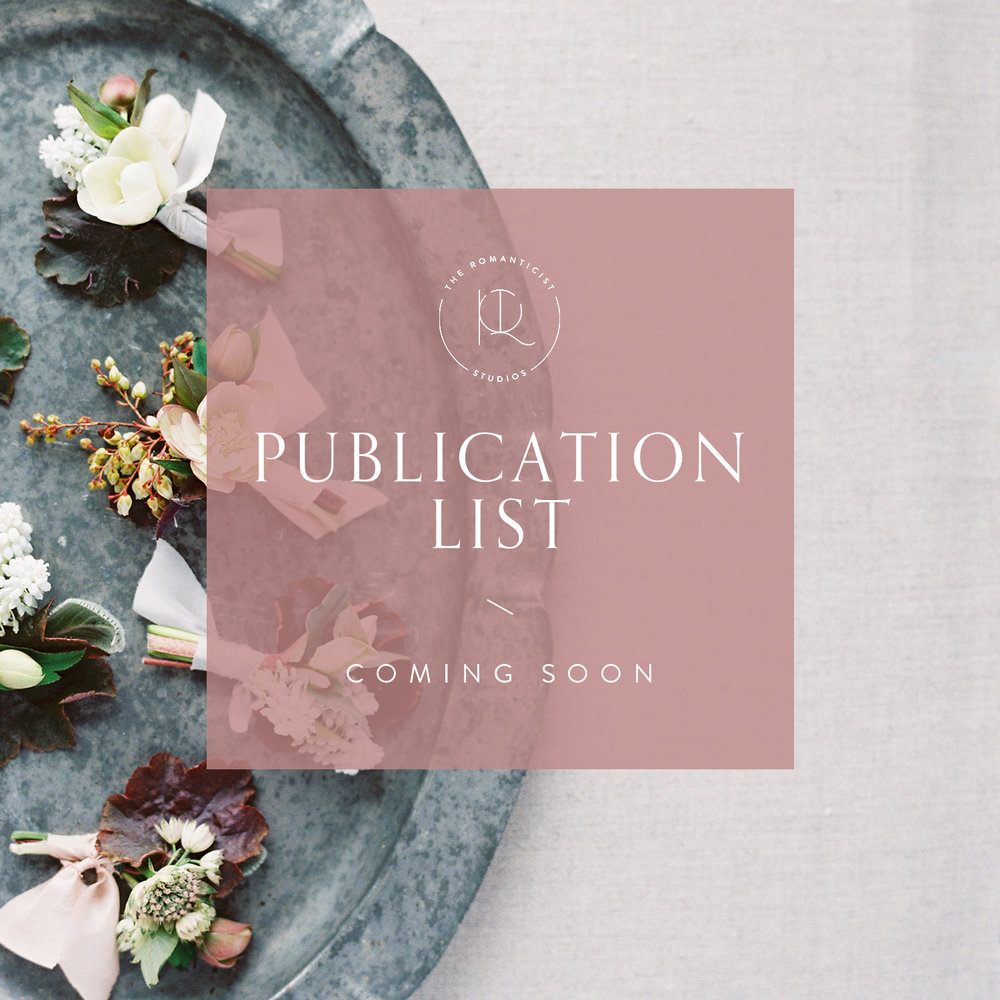 A full list of publications for you to draw inspiration and submit your work - The Romanticist Studios