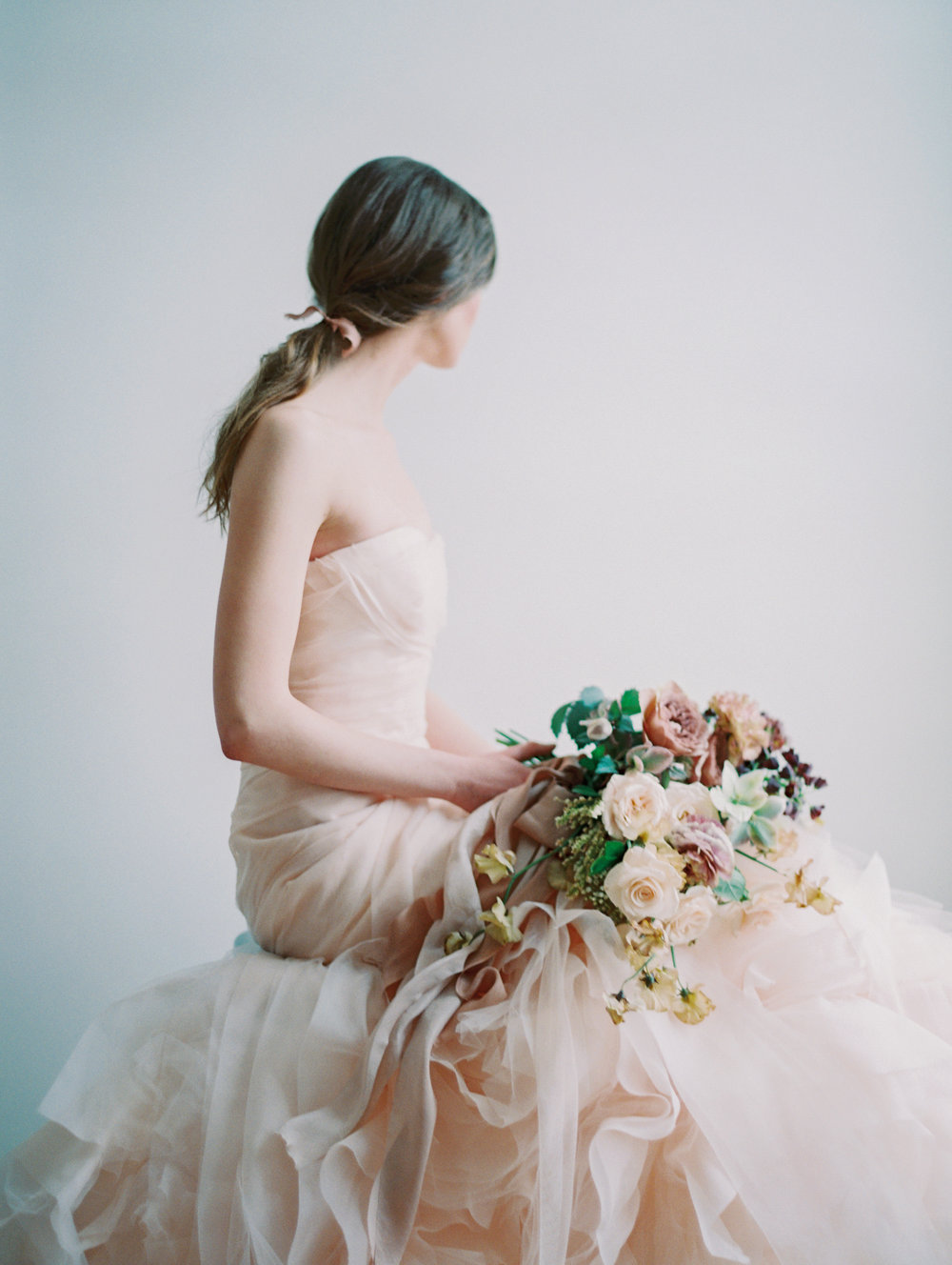 Vera Wang, blush and amazing florals are brand staples for TRS