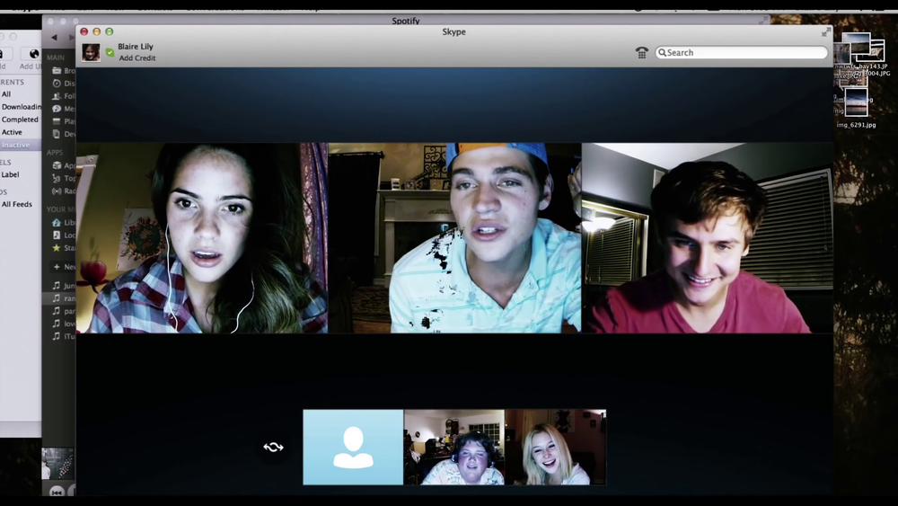 The full screen mode of   Unfriended  .