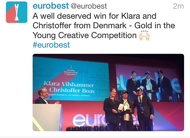 Wauw, congrats to Klara and Christoffer. European Champions. We salute you 👏👏👏