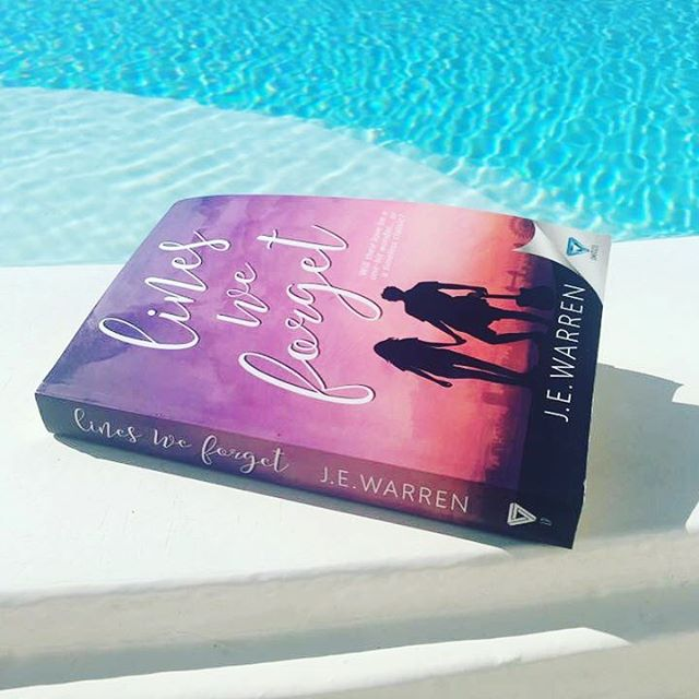 Lines We Forget - fits nicely in handbags, easy to transport and perfect for the pool 😊😂☀️ #linesweforget #pool #santorini #holidayread #travel #booksofinstagram #amreading #authorsofinstagram #wattpad #book #coverart #pretty #fun #sunshine #readinglist