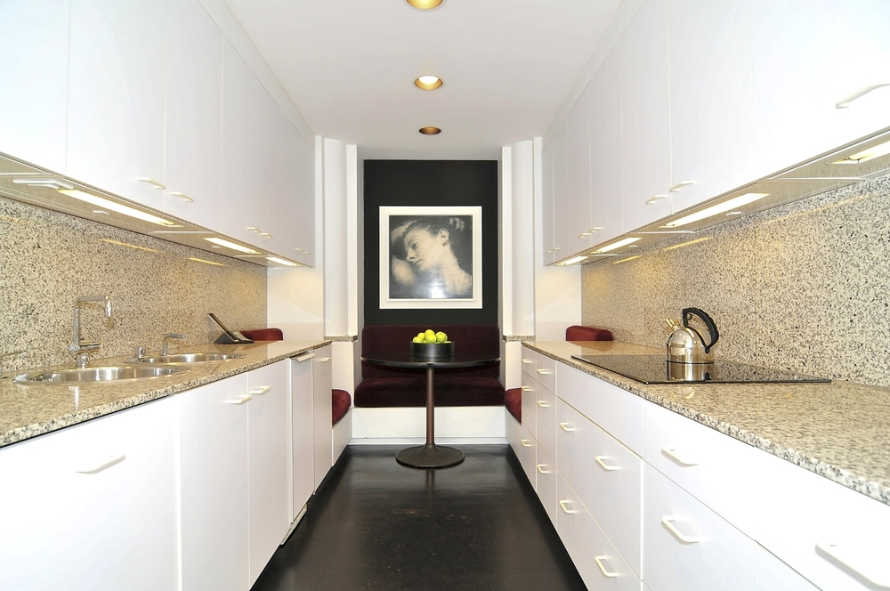 Copy of Contemporary White Galley Kitchen