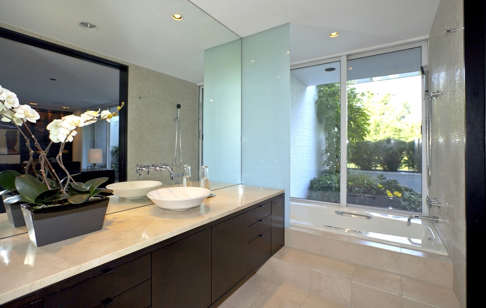 Master Bathroom with Doors to PrivateTerrace