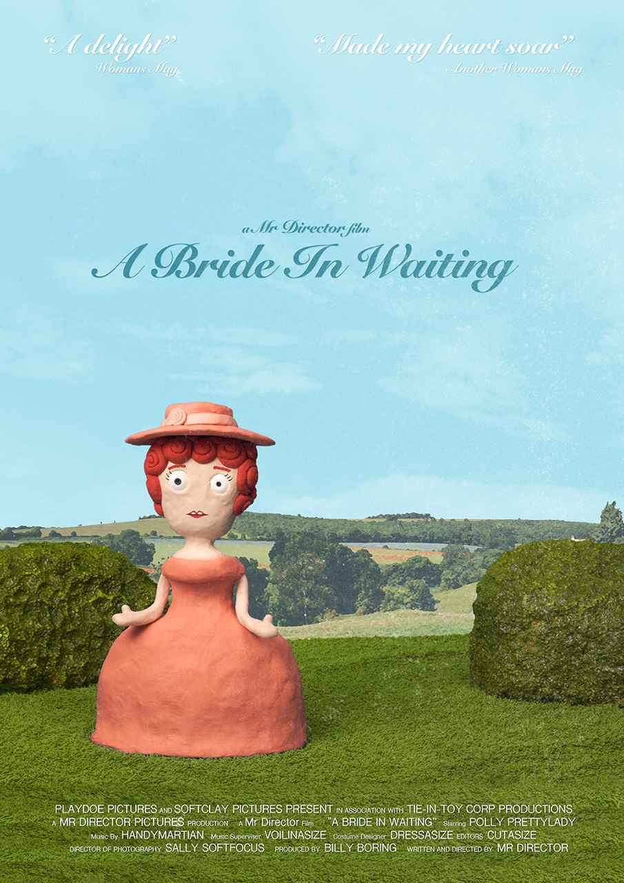 The poster for 'A Bride In Waiting', a film within my short film 'Mr Director'. Watch the full animation here:  https://vimeo.com/122625153