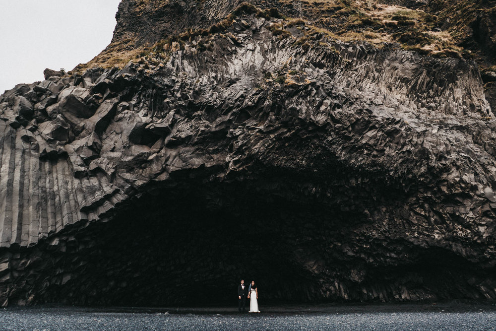 Black Sand Beach Wedding Photography Iceland