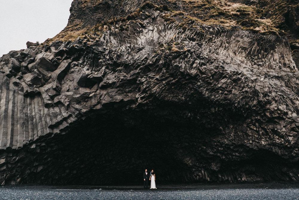 Black Sand Beach Wedding Photography Iceland