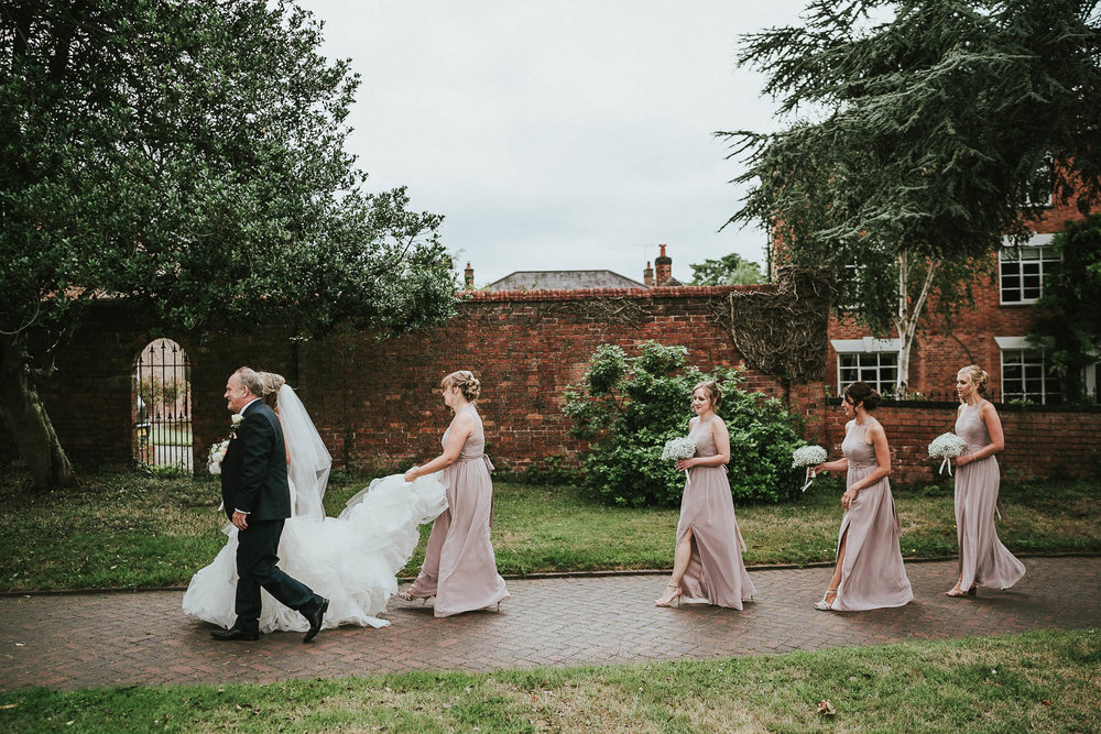bride-and-bridesmaids-procession