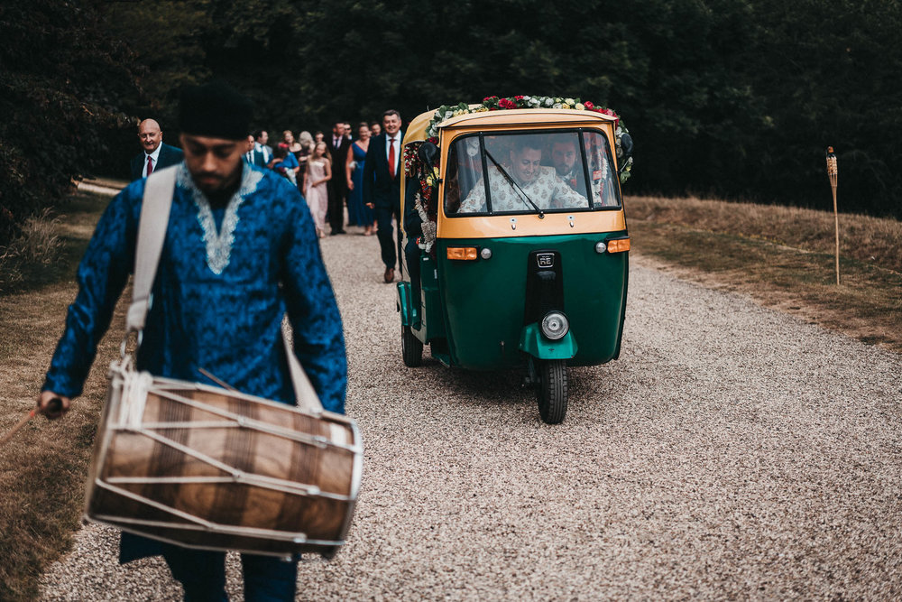 groomsmen family procession at sezincote