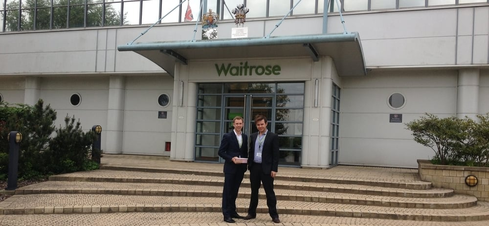 Charlie and Harry celebrate Oppo ice cream launching straight into 117 Waitrose stores.