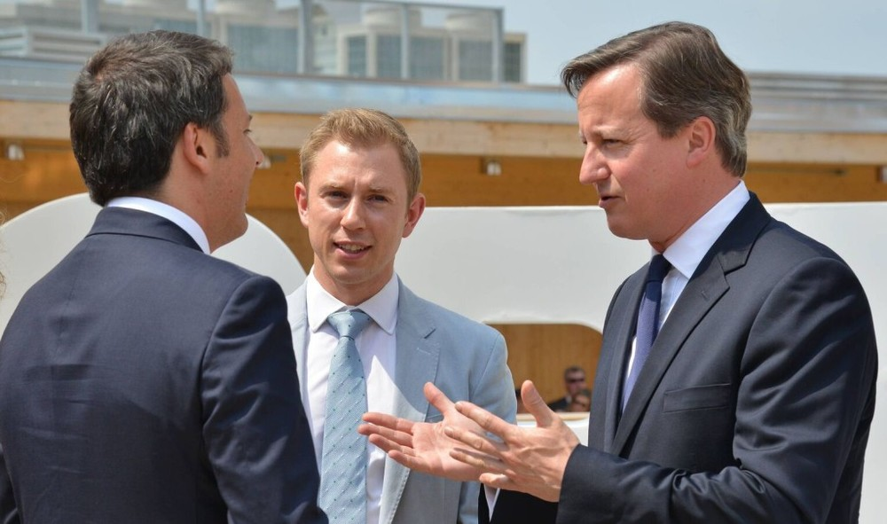 Charlie with David Cameron. Oppo goes to Italy for the best of British innovation showcase.
