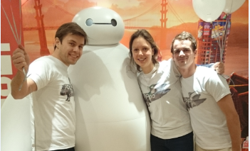 The Oppo team celebrate national Hug day with Disney's Baymax.