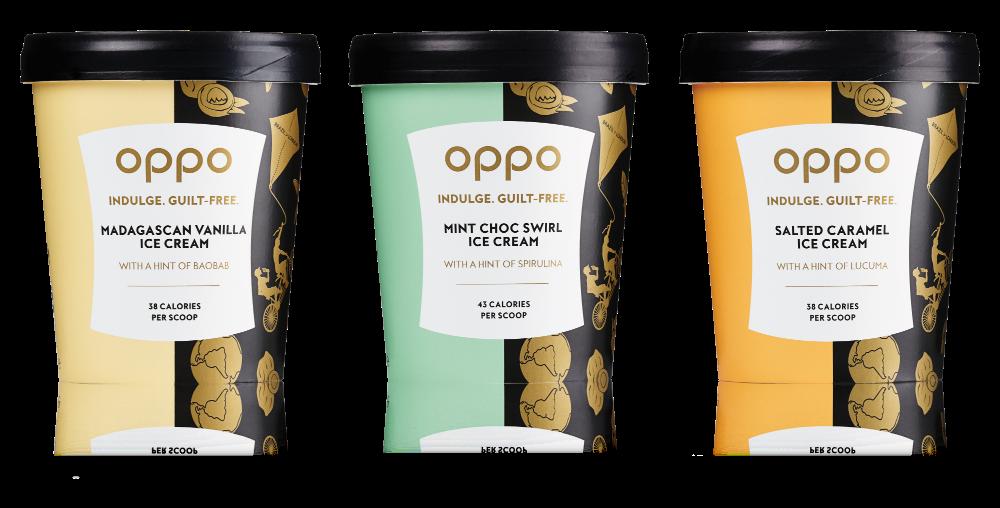 Oppo ice cream tubs.
