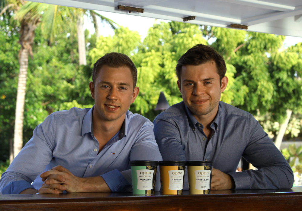 Charlie and Harry with Oppo flavours in Grenada. Bobbie Garbutt & Poppy Roy ©