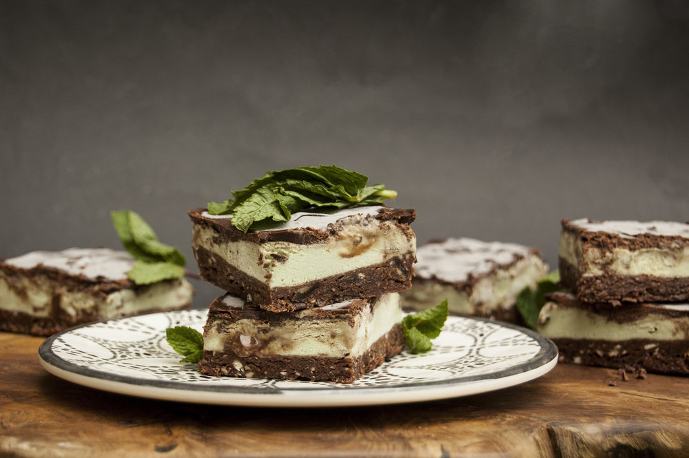 Oppo recipe: Mint Chocolate Ice cream squares