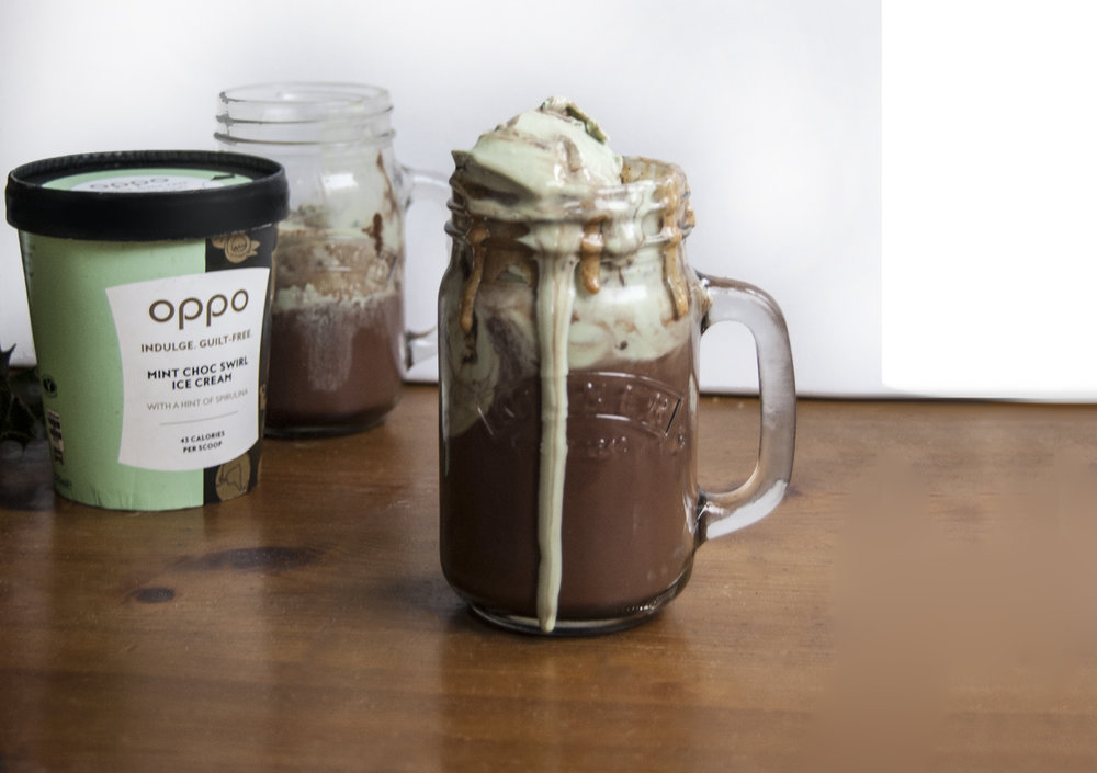 Oppo recipe: Hot chocolate with Mint Chocolate Oppo